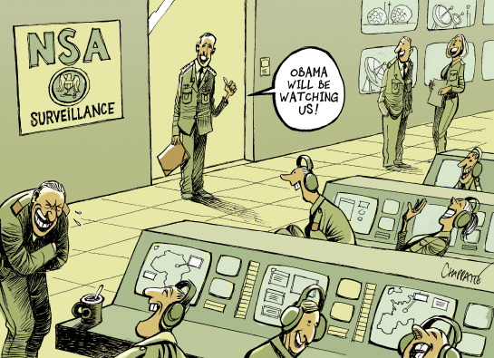 New RULES for the NSA BY PATRICK CHAPPATTE