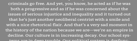 Quote: Cornell West