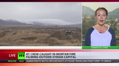 RT crew comes under mortar fire near Damascus