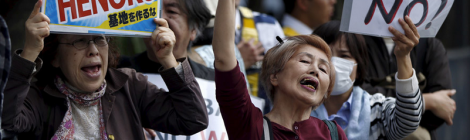 RT: 30,000 flock to Japan parliament to protest US base relocation in Okinawa