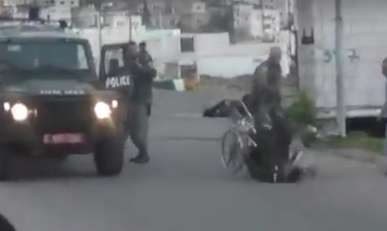 NY Times Jody Rudoren: Israeli Trooper Filmed Pushing Disabled Palestinian to the Ground